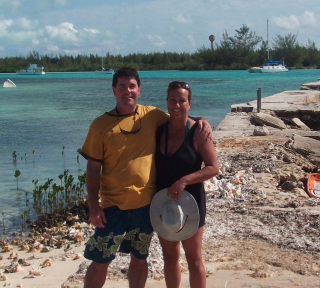 Brian and Jennifer on Pier, Chub Cay2