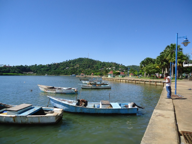 Fishing boats along the town dock