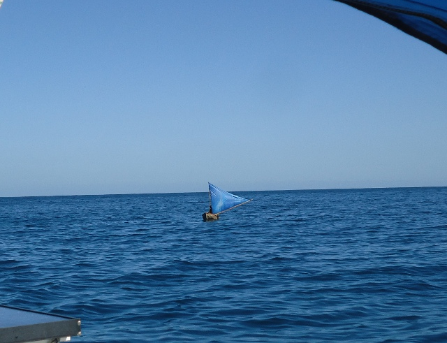 We saw this local fishing boat sailing as we entered Samana bay