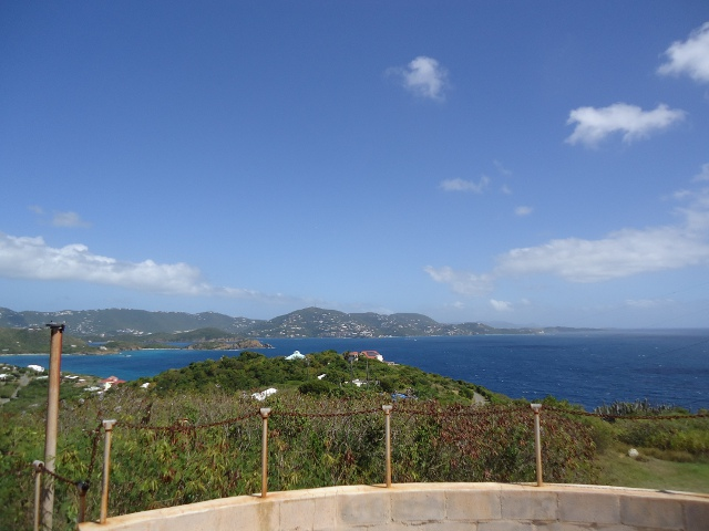 Beautiful view of St. Thomas from the top of Fort Segarra.