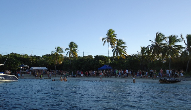When we arrived in Red Hook, St. Thomas it looked like it was spring break with lots of partying going on this beach.