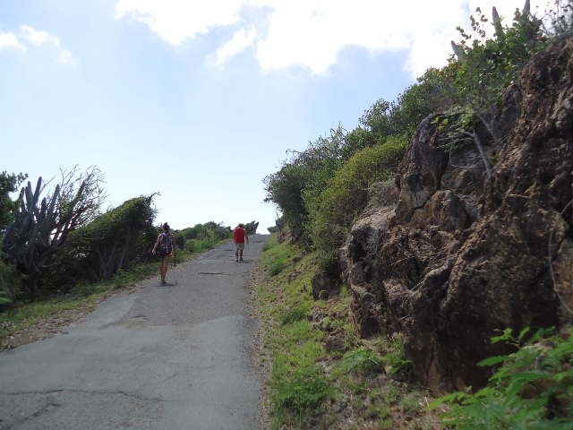 Walking up, up, up the hill to Fort Segarra.