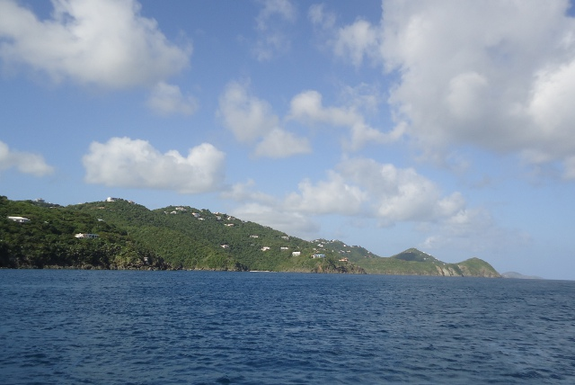 Pretty as a picture as we pass St. Thomas's north coast.