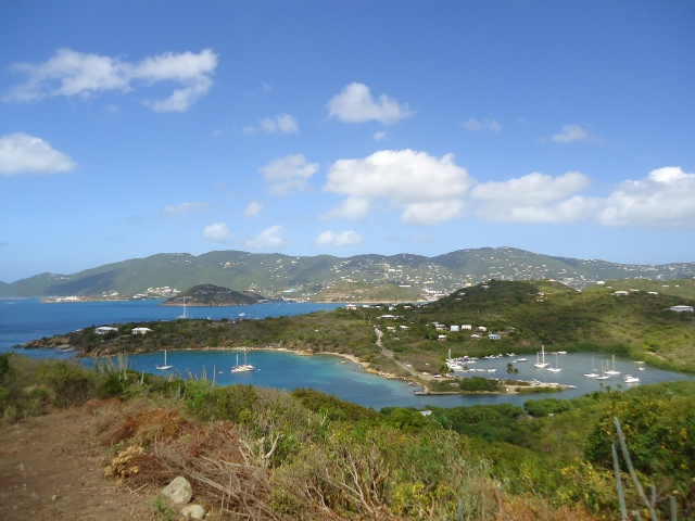 View from the top of Water Island looking towards St. Thomas's south- west coast.