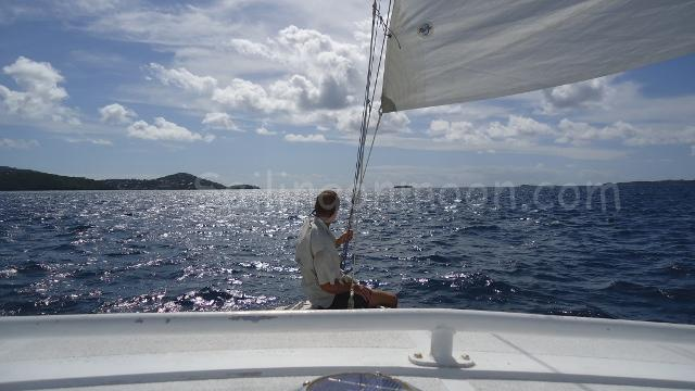 Our friend Bob enjoying the sail.