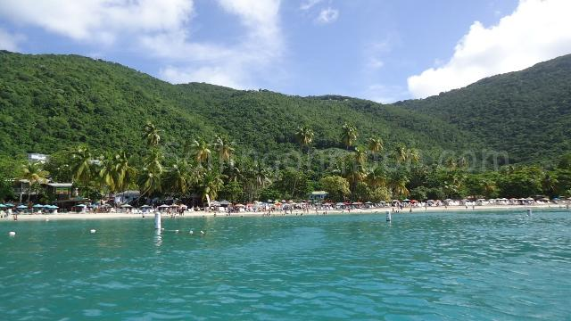 Cane Garden bay was busy with cruise ship passengers today!