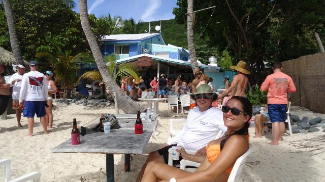 Hanging out at the Soggy Dollar in White Bay, Jost Van Dyke