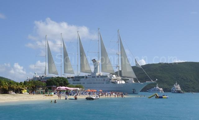 Just to show off this cruise ship comes as close to the shore line as he could for a photo opp. He was crazy close!