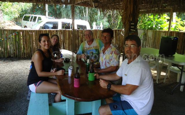Liming with Dave, Frank and Denise.