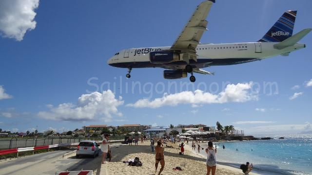 Maho Beach is world-famous for its unique location right at the business end of the Princess Juliana Airport runway. Crowds gather to watch jumbo jets take off and land. Don't leave anything on the beach under the flight path as the jet blast will whip it away.